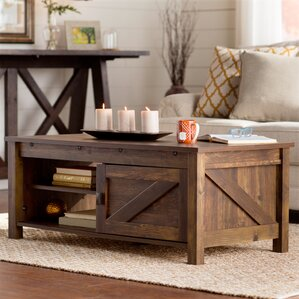 pine coffee tables you'll love | wayfair