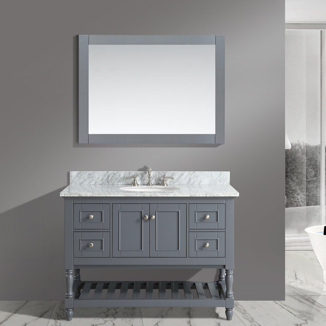 Urban Furnishings Silvia  Bathroom Sink Vanity Set With Mirror - Bathroom sink and vanity sets
