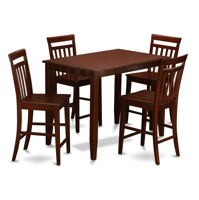 East West Buckland 5 Piece Counter Height Dining Set