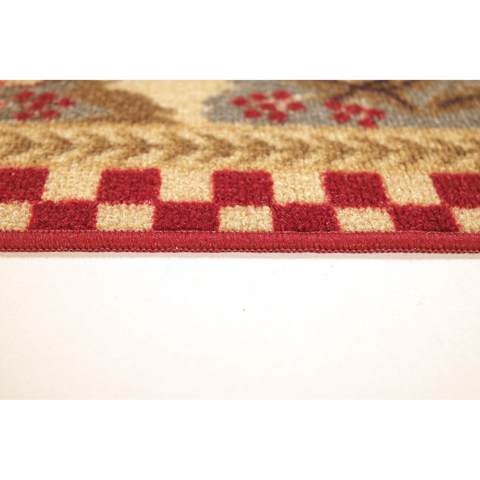 Red And White Checkered Rug: Three Posts Harmon Rooster Checkered Cream/Red Kitchen