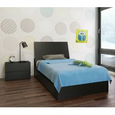 Chelsey Wood Platform Bed with Storage