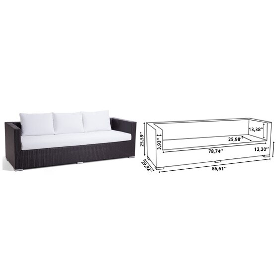 Beliani Xxl Sectional 7 Piece Lounge Seating Group With