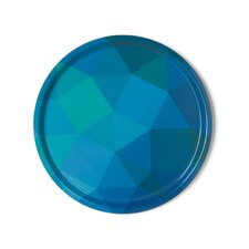 Prismatic Melamine Round Serving Platter