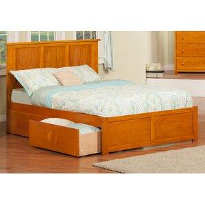 brookline storage platform bed - Drawer Bed Frame