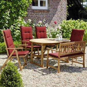 6-Sitzer Gartengarnitur Borkum mit Polster