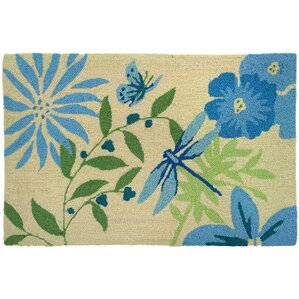 Lansdale Blue Butterfly And Dragonfly Area Rug