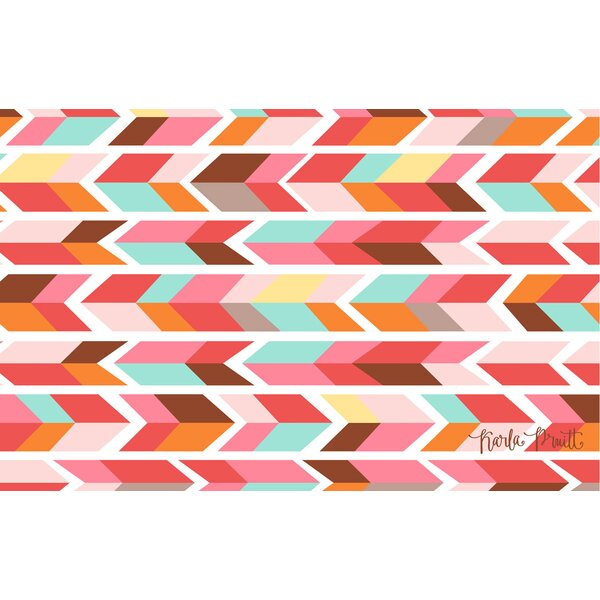 Manual Woodworkers U0026 Weavers Arrowhead Pink/Blue Chevron Area Rug U0026 Reviews  | Wayfair