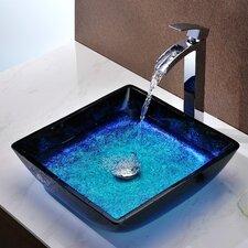 Ceramic Square Vessel Bathroom Sink. Anzzi