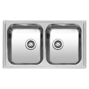diplomat 86cm x 50cm double bowls inset kitchen sink. beautiful ideas. Home Design Ideas