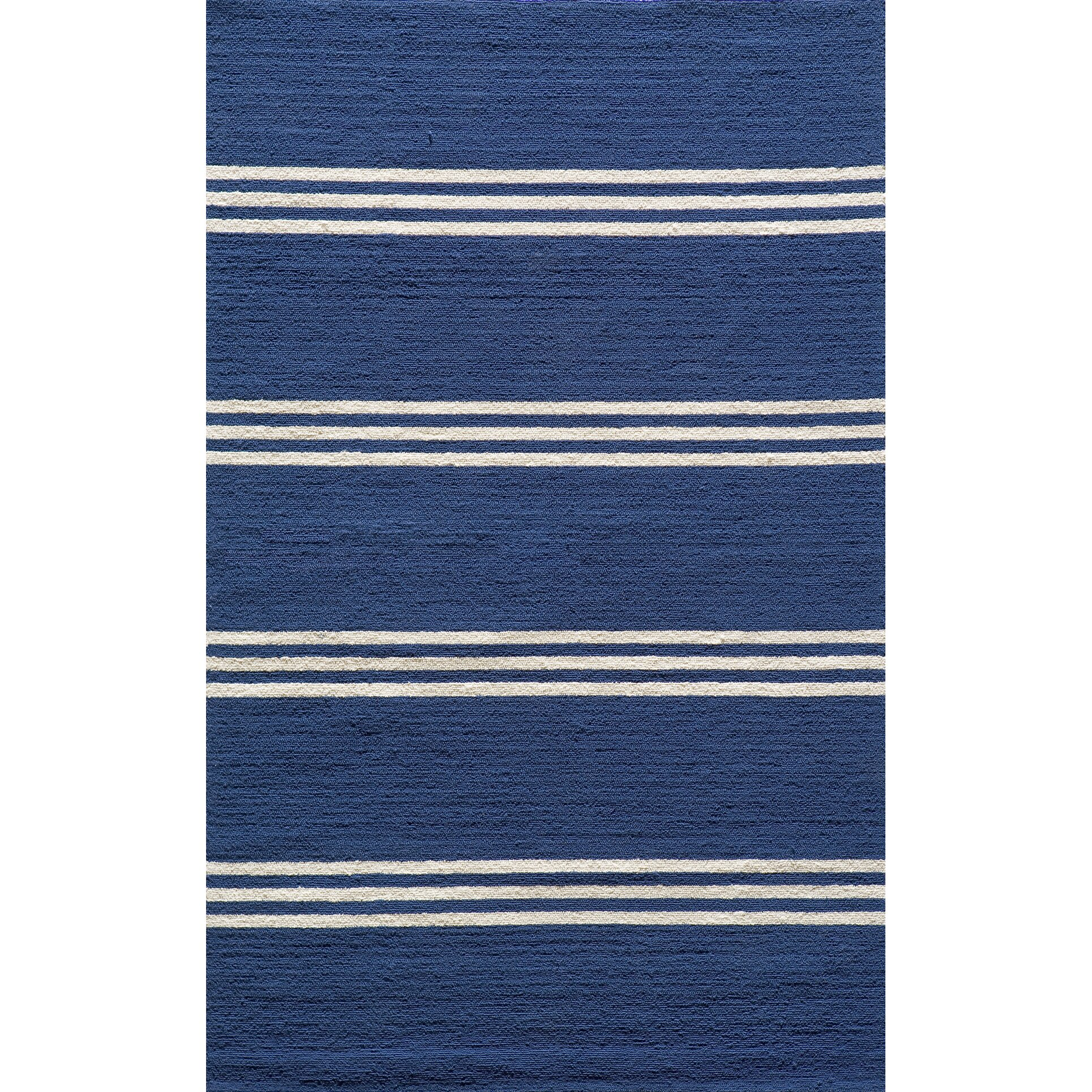 Dreadnought hand hooked blue indoor outdoor area rug for Blue indoor outdoor rug