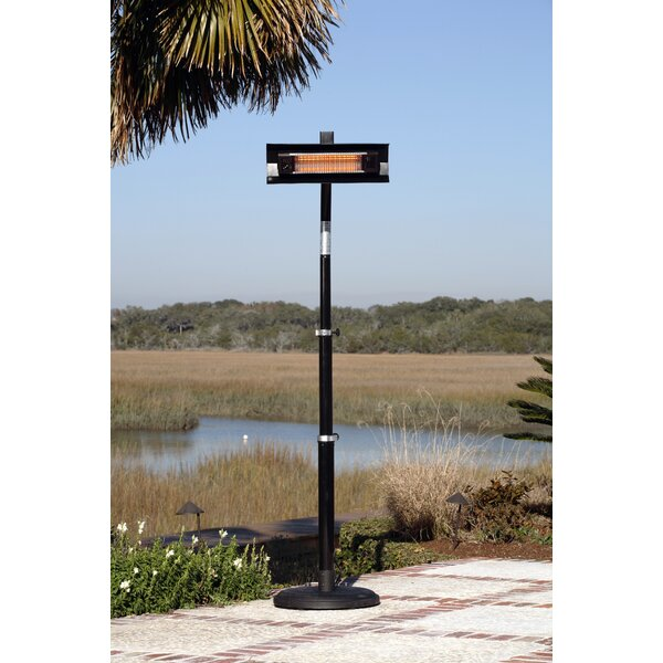 Fire Sense Telescoping 1500 Watt Electric Patio Heater U0026 Reviews | Wayfair  Fire Sense Patio Heater