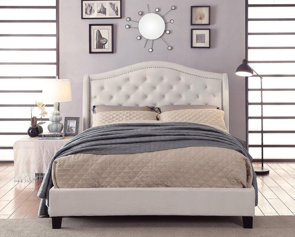 alcott hill virginia queen upholstered platform bed  reviews  - defaultname