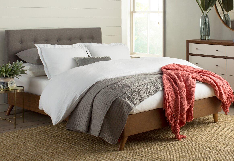 brayden studio smallwood upholstered platform bed  reviews  wayfair - defaultname