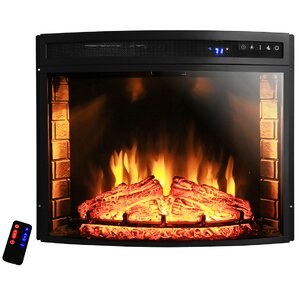 Curved Wall Mount Electric Fireplace Insert  Electric Fireplace Insert