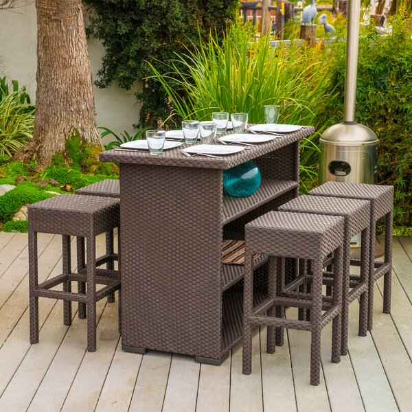 Varick Gallery Silverton 7 Piece Outdoor Dining Set U0026 Reviews | Wayfair