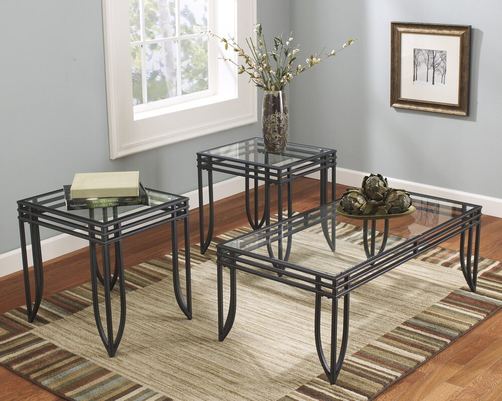 winston porter myra  piece coffee table set  reviews  wayfair -  coffee table sets sku wnpr defaultname