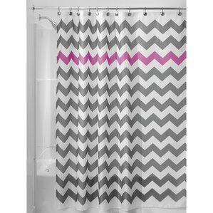 Chevron Shower Curtain  Purple And Grey Shower Curtain