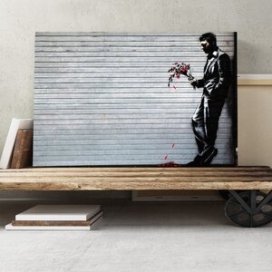 Banksy Waiting in Vain Graffiti Graphic Art on Canvas