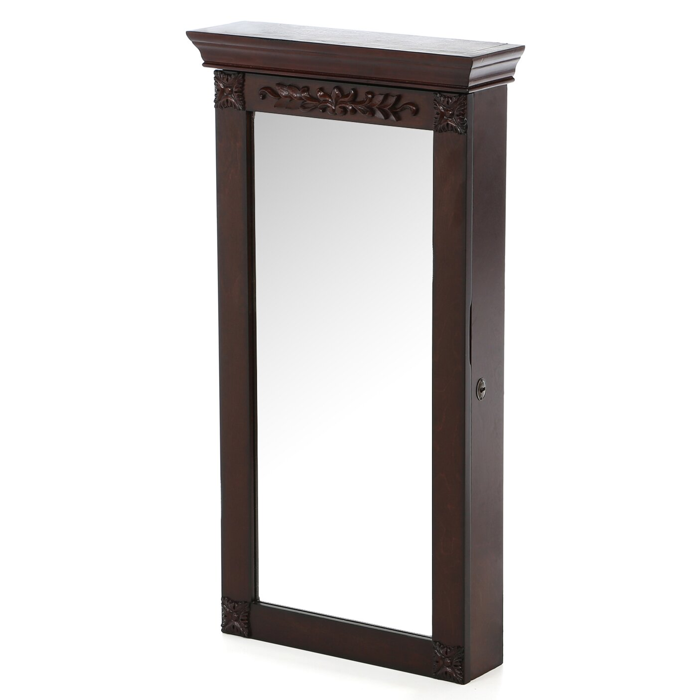 Cheetham Wall Mount Jewelry Armoire with Mirror - Rosalind Wheeler Cheetham Wall Mount Jewelry Armoire With Mirror
