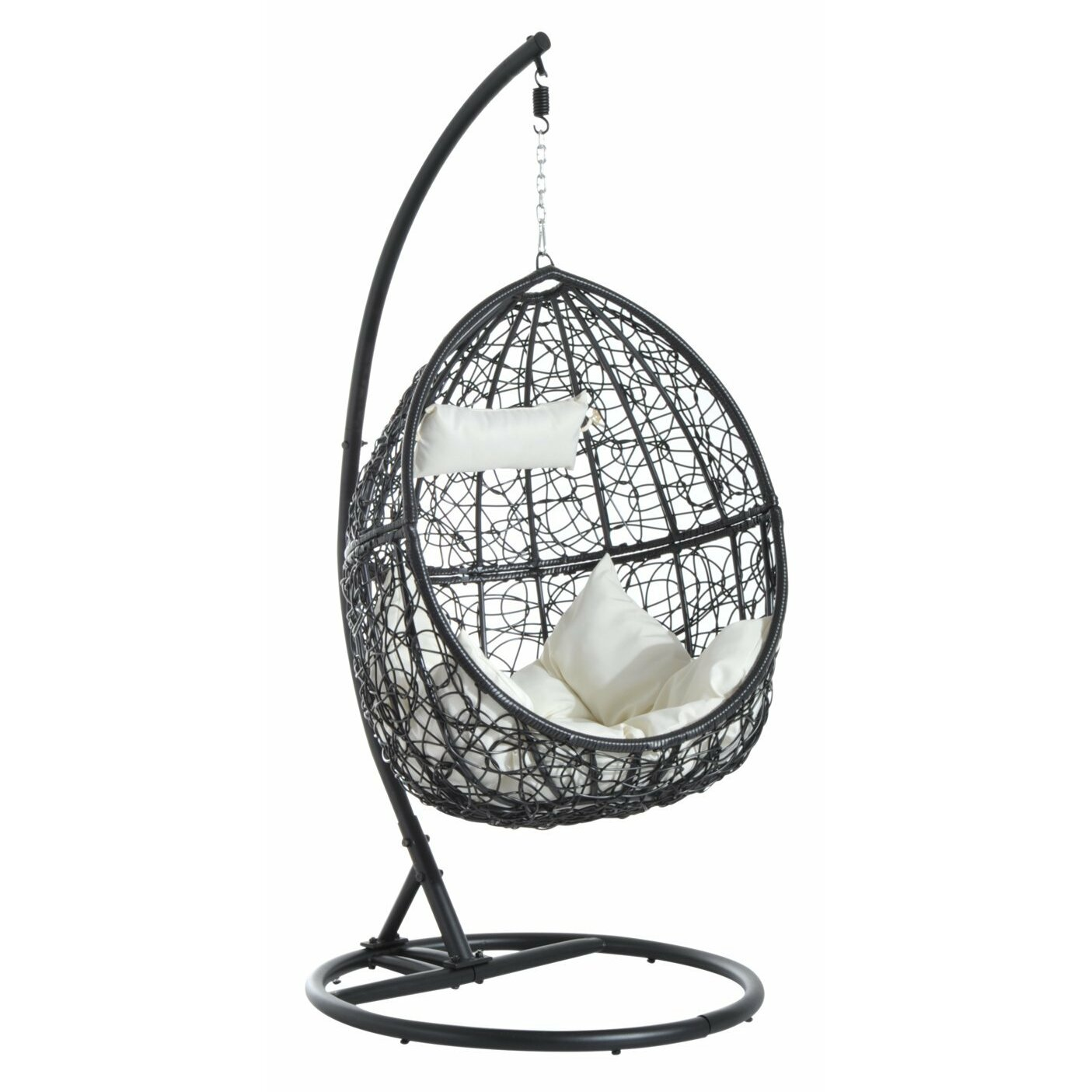 Bel Étage Egg Hanging Chair with Stand & Reviews | Wayfair ...