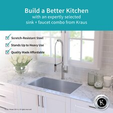 Handmade Stainless Steel 16 Gauge 32 X 19 Undermount Kitchen Sink With Faucet