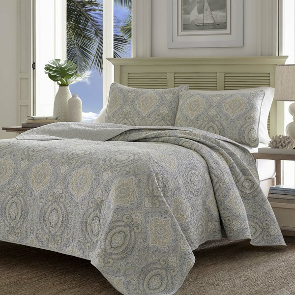 Tommy bahama bedding turtle cove quilt set by tommy bahama for Bahama towel chaise cover