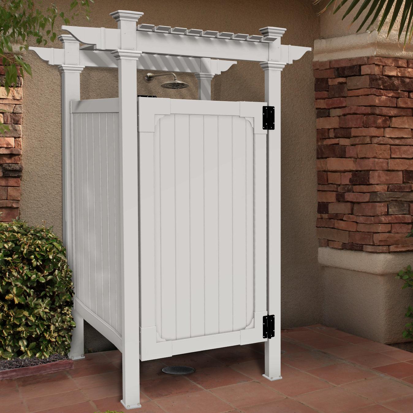 Zippity Outdoor Products Hampton Outdoor Shower Enclosure Amp Reviews Wayfair