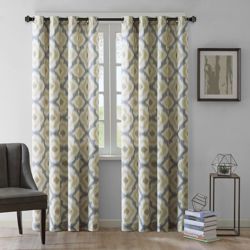 Ankara Ikat Semi Sheer Single Curtain Panel