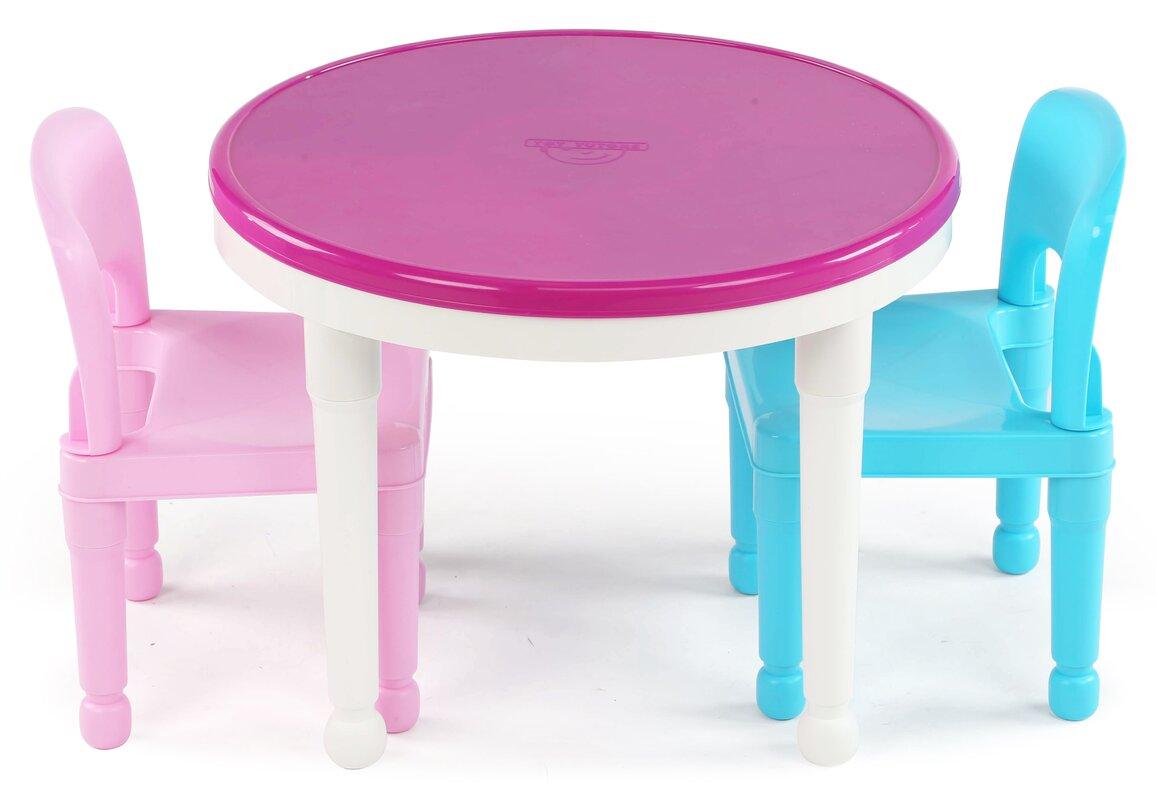 tot tutors kids'  piece round table and chair set  reviews  wayfair - defaultname