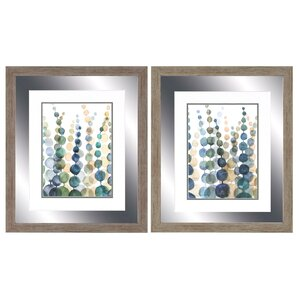 2-Piece Botanical Framed Painting Print Set