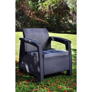Awesome Berard All Weather Outdoor Armchair With Cushions