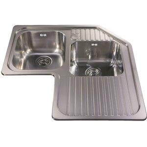 83 cm x 83 cm corner double bowl kitchen sink. beautiful ideas. Home Design Ideas