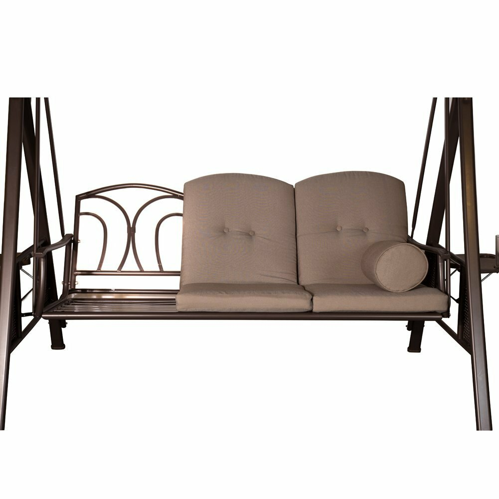 Rohrbaugh 3 Seat Outdoor Porch Swing with Stand u0026 Reviews : Joss u0026 Main