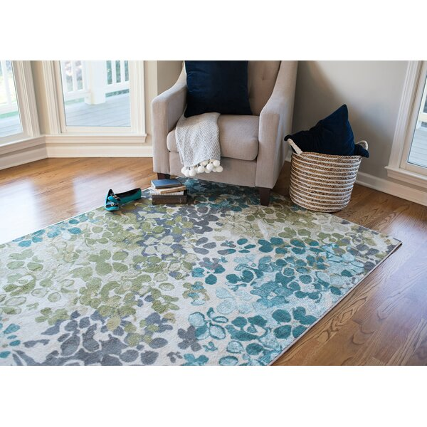 Red Barrel Studio Adams Aqua Area Rug U0026 Reviews | Wayfair