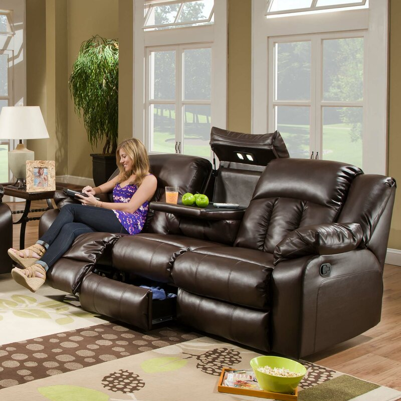 simmons upholstery houle leather double motion reclining sofa recliner sofas
