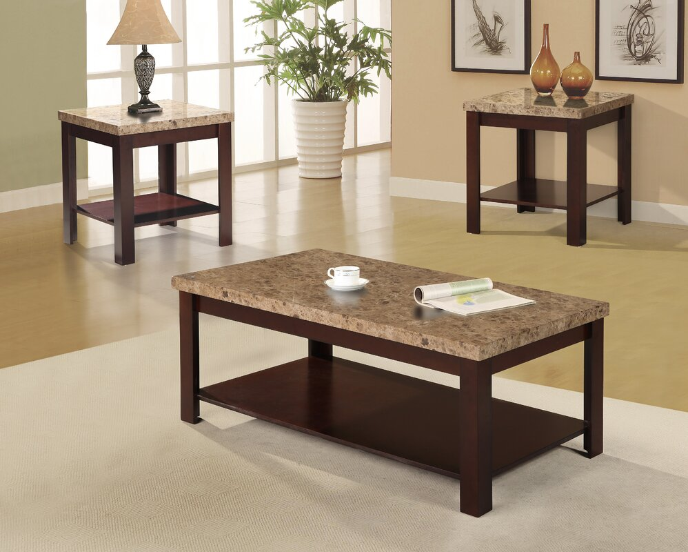 Loon peak chicasaw 3 piece coffee table set reviews for Table 52 reviews