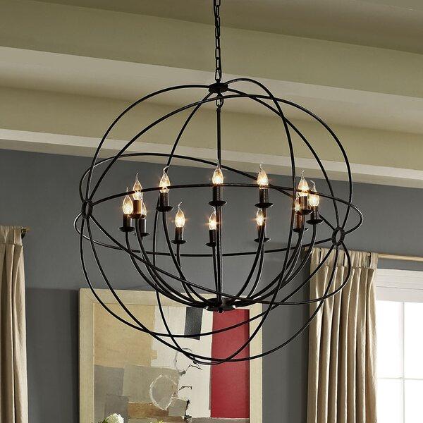 Brayden Studio Geyer 12 Light Candle Style Chandelier U0026 Reviews | Wayfair