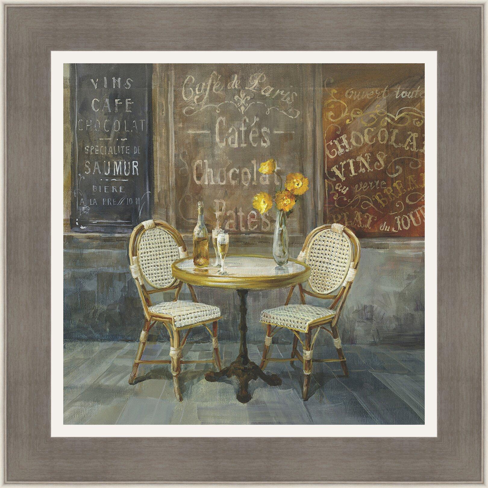 Ashton Wall D Cor Llc 39 French Cafe 39 Framed Painting Print