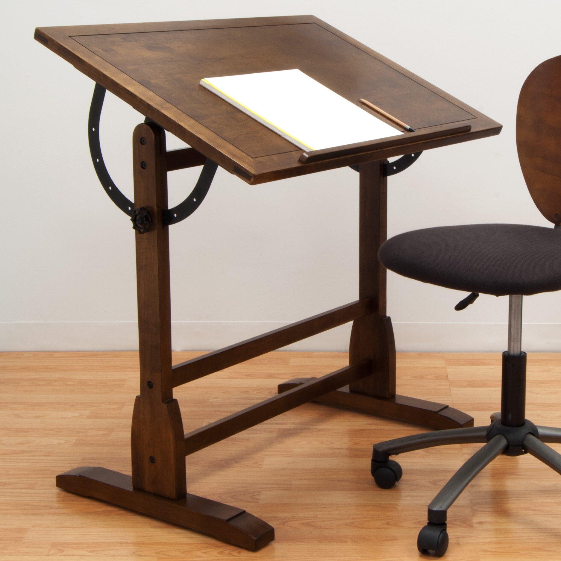 Modern drafting table - Vintage Wood Drafting Table