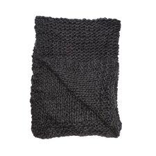 Chunky Wool Knit Throw