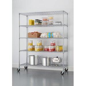 "NSF Extra Large Commercial Grade 77"" H 5 Shelf Shelving Unit"