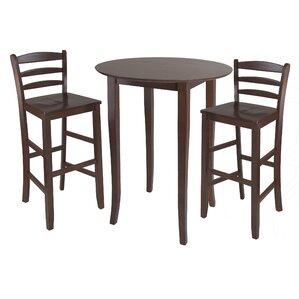 Weldon 3 Piece Pub Table Set