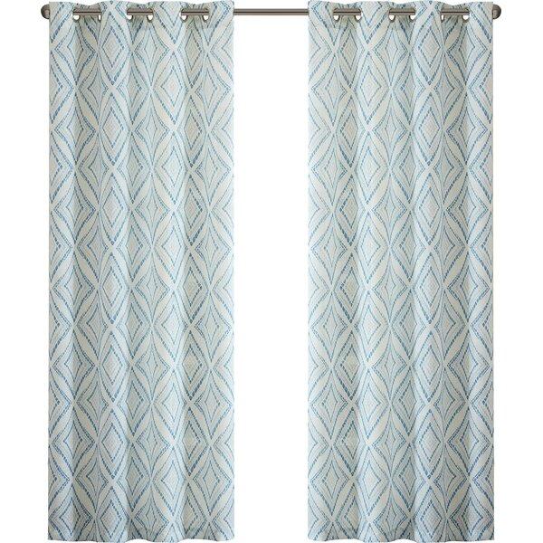 belmont trellis grommet single curtain panel & reviews   joss & main