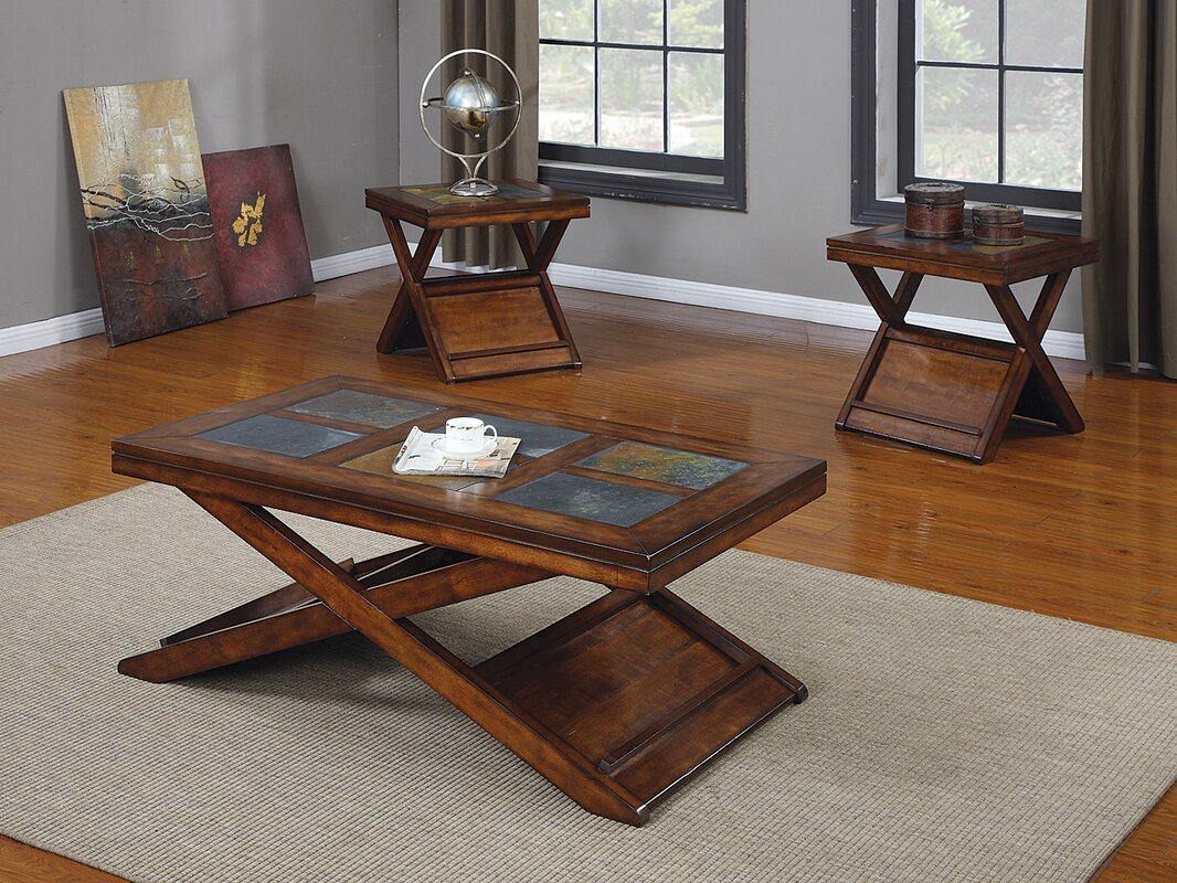 Acme furniture benicia 3 piece coffee table set reviews for 5 piece living room table set