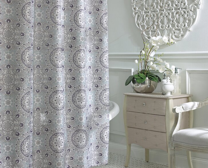 bathroom shower curtains and matching accessories - Bathroom Ideas