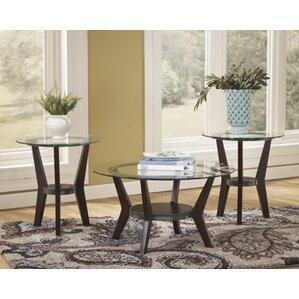 Round Coffee Table Sets Youll Love Wayfair - Coffe table set