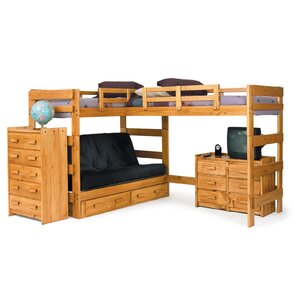 l shaped bunk bed - Twin Wood Bed Frame