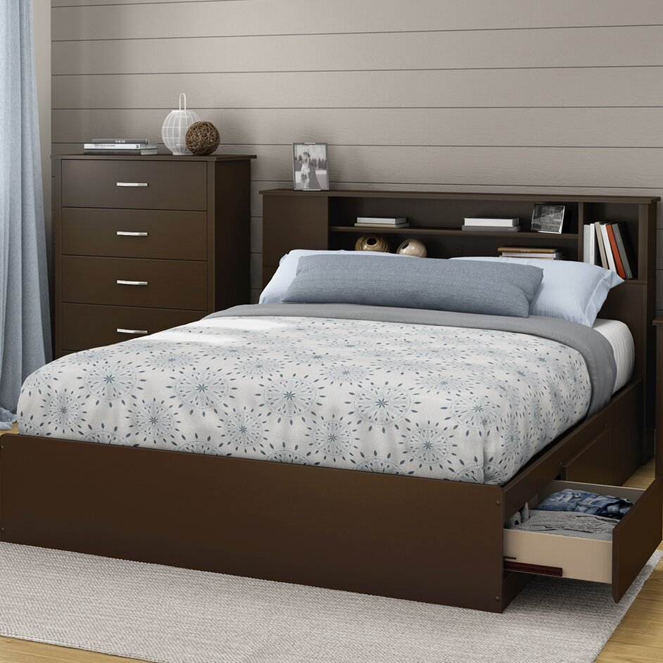 South Shore Fusion 40.25in Tall Queen Platform Bed