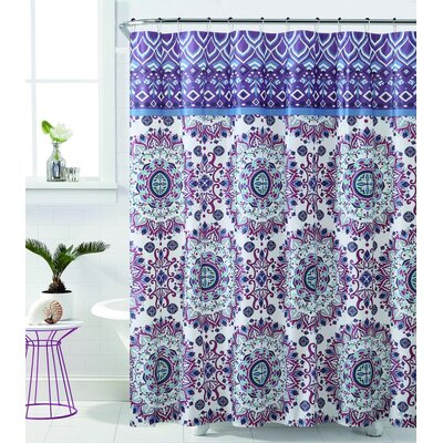 Loraine Mandala Burst Shower Curtain - Shower Curtains You'll Love Wayfair.ca