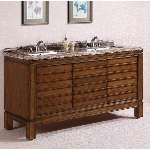 "legion furniture 68"" double bathroom vanity set | wayfair"